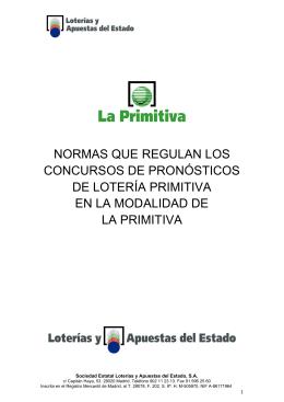 Modificación normas La Primitiva de 29 de mayo de 2015