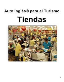 Inglés para el Turismo: Tiendas