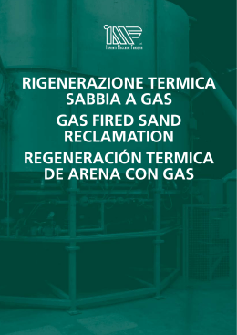 rIGENErAzIONE TErMIcA SABBIA A GAS GAS FIrEd - Meta-Mak