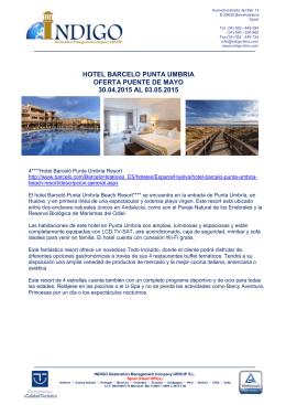 hotel barcelo punta umbria oferta puente de mayo 30.04.2015 al