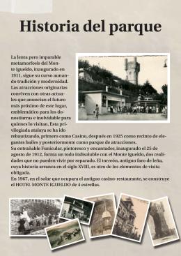 Descárgate el PDF - Parque de Atracciones Monte Igueldo