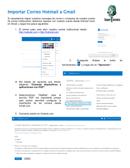 IMPORTAR CORREO HOTMAIL A GMAIL