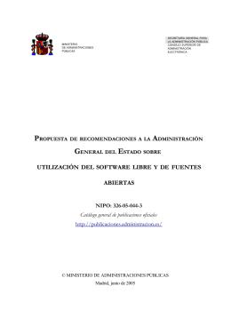 Propuesta de recomendaciones a la Administración General del