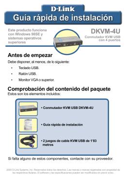 Instalación del DKVM-4U - D