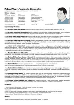 CV - Pablo Perez
