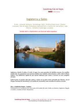 Inglaterra y Gales - Over l`illa de Castellroig, Agencia de Viajes