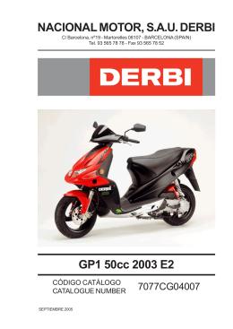 GP1 50cc 2003 E2 NACIONAL MOTOR, S.A.U. DERBI