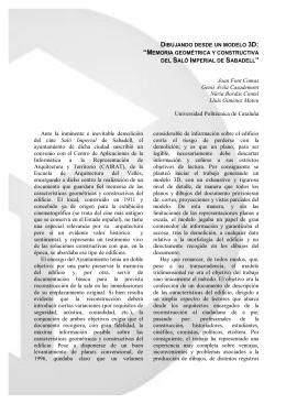 Memoria geométrica y constructiva del Saló Imperial de Sabadell