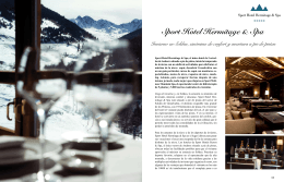 Sport Hotel Hermitage & Spa Invierno en Soldeu, sinónimo de