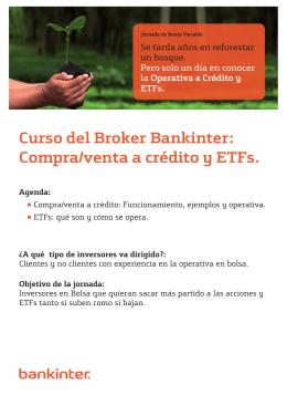 Curso del Broker Bankinter: Compra/venta a crédito y ETFs.