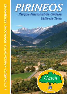 Folleto - Camping Gavín