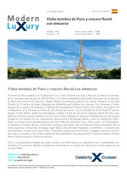 Visita turística de París y crucero fluvial con