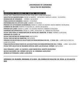 Calendario Académico Periodo 2-2015