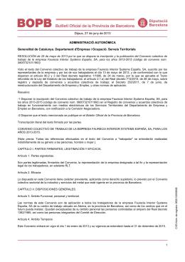Dijous, 27 de juny de 2013 ADMINISTRACIÓ AUTONÒMICA