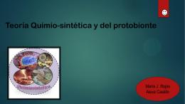 Teoría Quimio-sintética y del protobionte