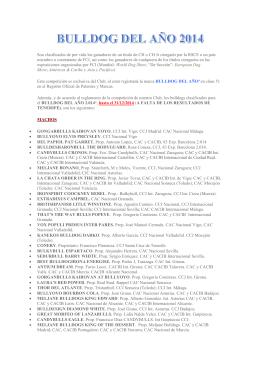 clasificados para el bulldog del año 2014
