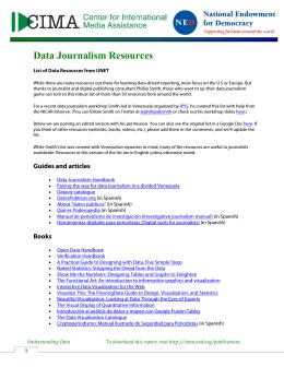 Data Journalism Resources - Center for International Media