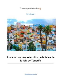 Hoteles de la isla de Tenerife