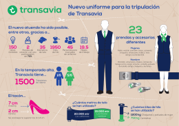 Nuevo uniforme para la tripulación de Transavia