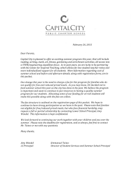 from 9 - Capital City Public Charter School