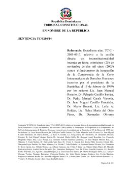 Sentencia TC/0256/14 - Tribunal Constitucional de la República