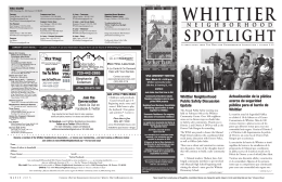 WNA Spotlight 3-15 - Whittier Neighborhood