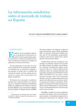 La información estadística sobre el mercado de trabajo en España