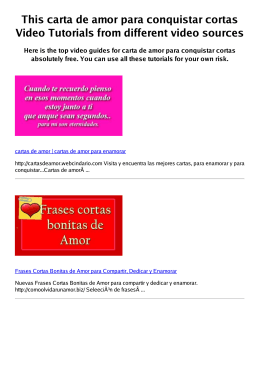 #Z carta de amor para conquistar cortas PDF video books