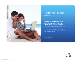 Payment of Third Party Credit Cards Citi English