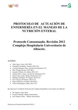 Protocolo de Nutrición Enteral - Complejo Hospitalario Universitario