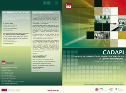 Brochure de la Convocatoria