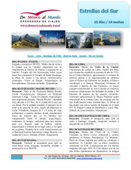 Cuzco - Lima - Santiago de Chile - Buenos Aires - Iguazú