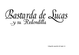 Francisco Lucas font specimen sheet