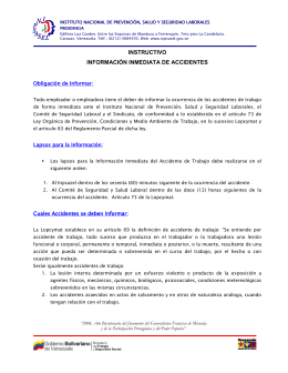 INSTRUCTIVO INFORMACIÓN INMEDIATA DE