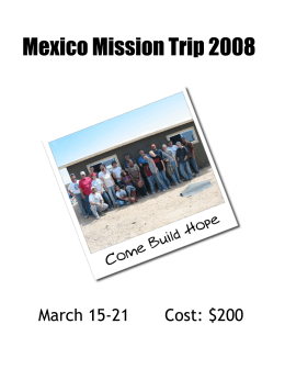 mexico cover 2006.pub - Cross Bend Christian Church