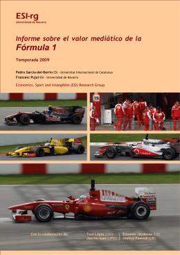 Informe del valor mediático de la Fórmula 1