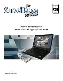 Manual de Instrucciones Para Cámara de Vigilancia Video USB