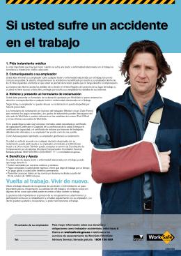 Si usted sufre un accidente en el trabajo