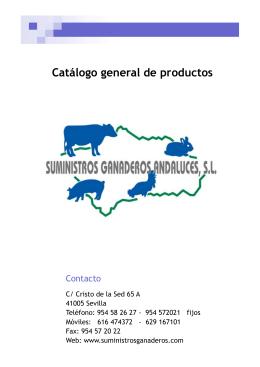 Catálogo general de productos