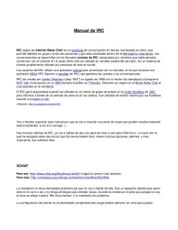 Manual de IRC