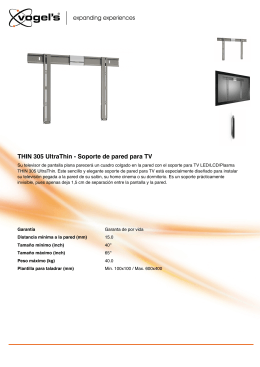THIN 305 UltraThin - Soporte de pared para TV