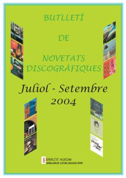 Julio - Septiembre 2004 - Generalitat Valenciana