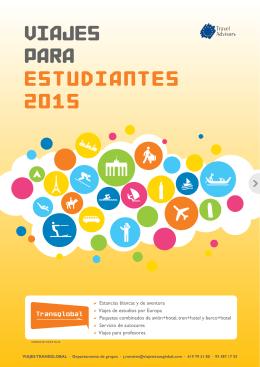 VIAJES PARA ESTUDIANTES 2015