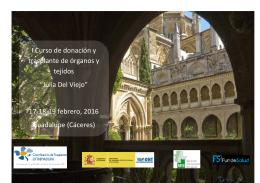 """I Curso de donación y trasplante de órganos y tejidos """"Julia Del"""