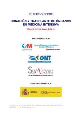 donación y trasplante de organos en medicina intensiva