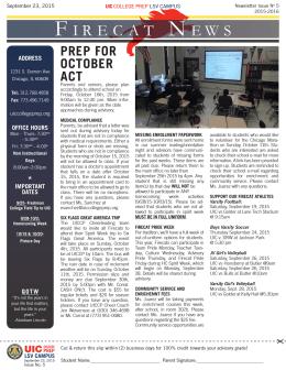 F IRECAT N EWS - UIC College Prep