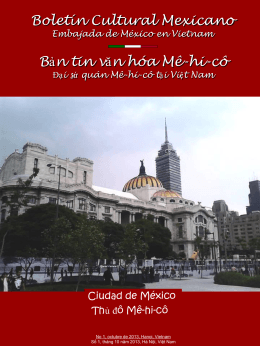 Boletín Cultural Mexicano Bản tin văn hóa Mê-hi-cô