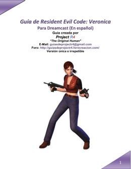Guía de Resident Evil Code Veronica para Dreamcast