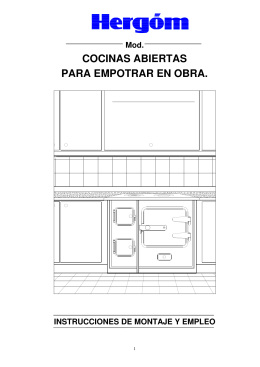 COCINAS ABIERTAS PARA EMPOTRAR EN OBRA.