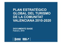 plan estratégico global del turismo de la comunitat valenciana 2010